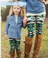 2017 весна мать и дочь одежда печать пн дочь брюки мать дочь наряды девушки леггинсы семьи сопоставления одежда