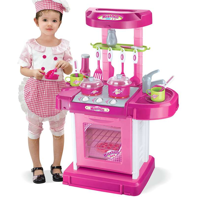 Kids Play House Girl Pretend Play Tableware Sets Toys Kitchen Cooking Simulation Miniature Kitchen Toys for children Xmas Gifts