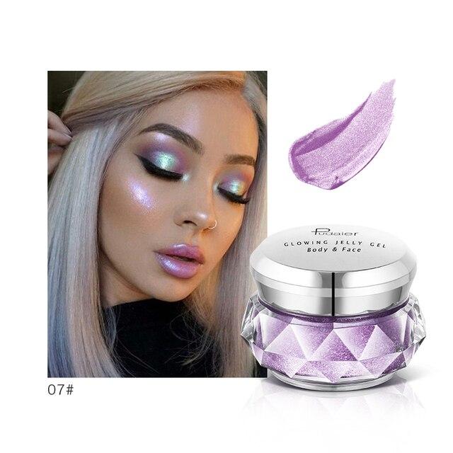 Pudaier Bronzer Metallic iluminador Highlighter Powder maquiagem Glitter Liquid Jelly Gel Cream Body Shimmer Makeup TSLM2 3