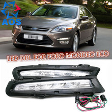 2PCs/set AUTO LED DRL Daylight waterproof Car Daytime Running lights set For Ford Mondeo 2011 2012