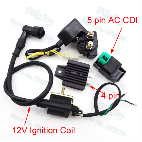 chinese atv 2006 nissan x trail wiring diagram regulator rectifier relay 12v ignition coil ac cdi for quad 50cc 70cc 90cc 110cc motorcycle motocross