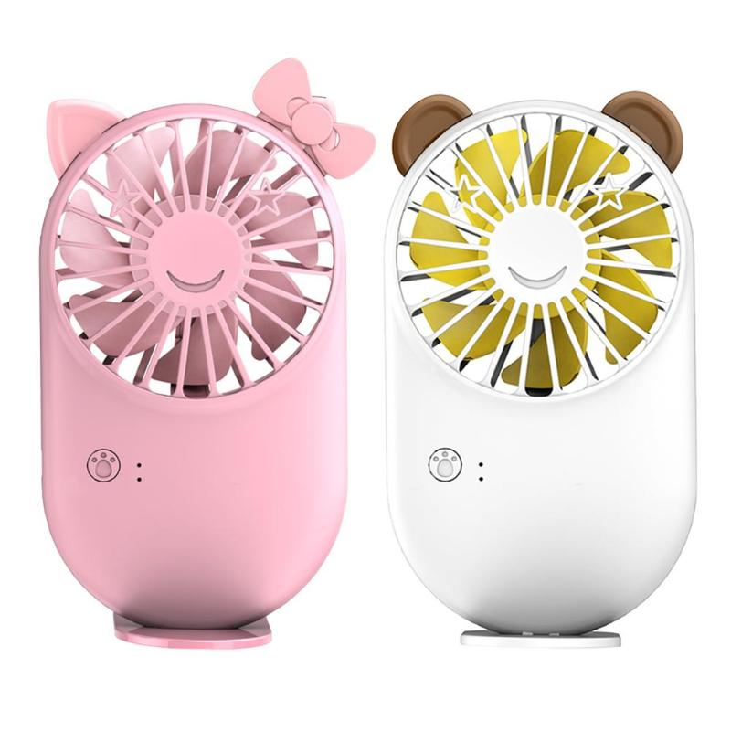USB Outdoor Handheld Silent Student Portable USB Mini Hand-Held Essential Oil Humidifier Pig Shaped Charging Fan Room