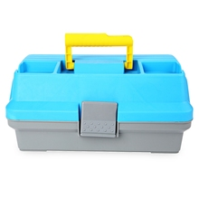 3 Layer Carp Fly Fishing Tackle Handle Box Plastic Multifunctional Fishing Tackle Box ABS Blue for fishing