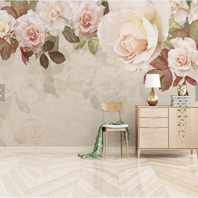 Flower Wallpaper Mural HD Large Size Wall Mural For The Walls 3D TV Bedroom Wallpaper  Home