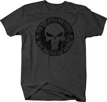 2019 Summer Cool Men Tee Shirt Distressed – God Will Judge Enemies Punisher Military Skull Tshirt Funny T-shirt