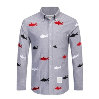 TB191 Spring Autumn Men S Shirt Long Sleeve Brand Tace Shark Dress Shirt Men Slim Fit