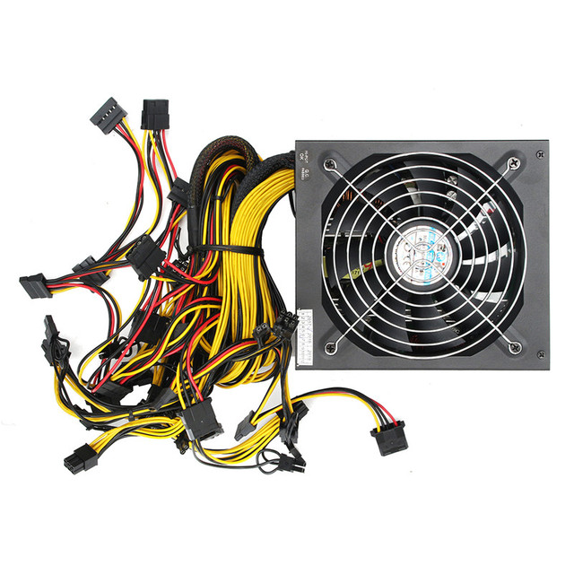 High Quality 1300W 1600W 1800W ATX PC 24 Pin Miner Power Supply for GPU Card Bitmain Antminer Mining Miner Power Supply Machine