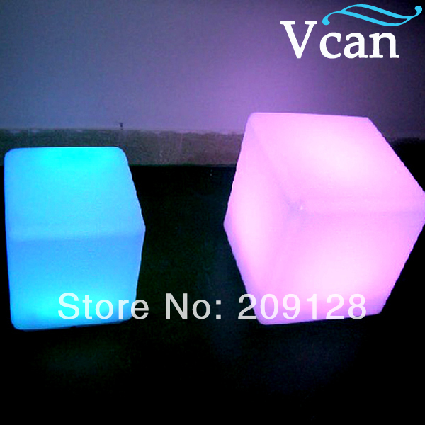 outdoor waterproof colorful led light white red blue yellow cube 20cm 30cm 40cm VC-A400 furniture