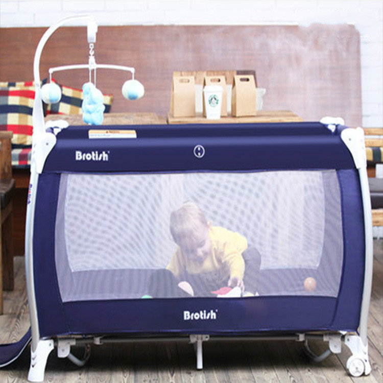 Folding baby bed multifunctional portable baby game bed cradle with roller table BB  цена и фото