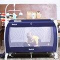 Plegable cama de bebé juego de cama cuna de bebé portátil multifuncional con mesa de rodillos BB