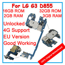 100% Original Mainboard ForLG G3 D855 32GB 16GB ROM Unlocked Motherboard Logic Board With Chips Android System For Replacement(China)