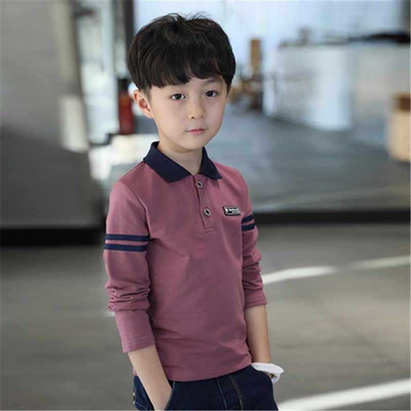 85eaf9fcf95d ... Детские рубашки для мальчиков наивысшего качества, рубашка школьная  форма, одежда для мальчиков, хлопковая ...