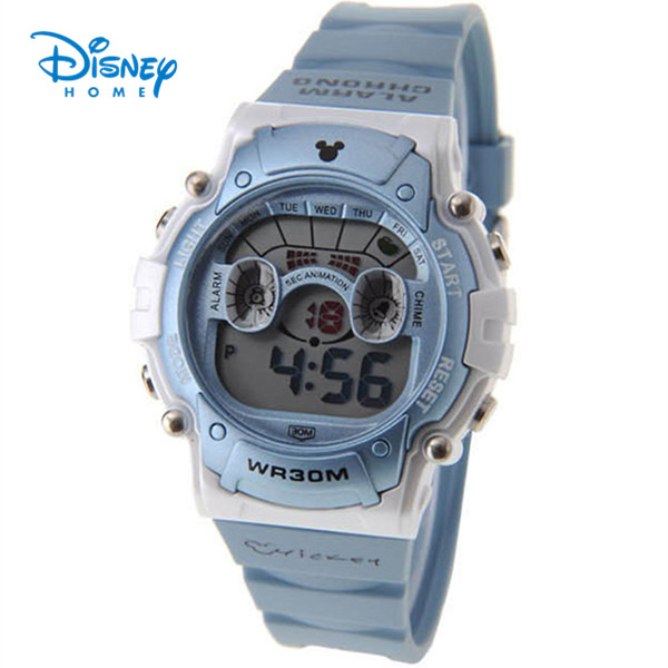 100% Genuine Disney Brand Watch military watches 30M Waterproof men watch alarm sport Watches relogio masculino LCD-PS029-2