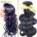Класс 6А Перуанский Объемная Волна Человеческих Волос Необработанные 3 Пучки Объемная Волна Перуанский Волосы Человеческих Волос DHL Бесплатная Доставка