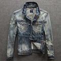 Hitz retro washed denim jacket Slim jeans male tide men's jackets