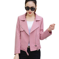 Spring Autumn Jackets Womens Short Basic Outerwear 2018 New Slim Top Long Sleeved Small Suit Parkas