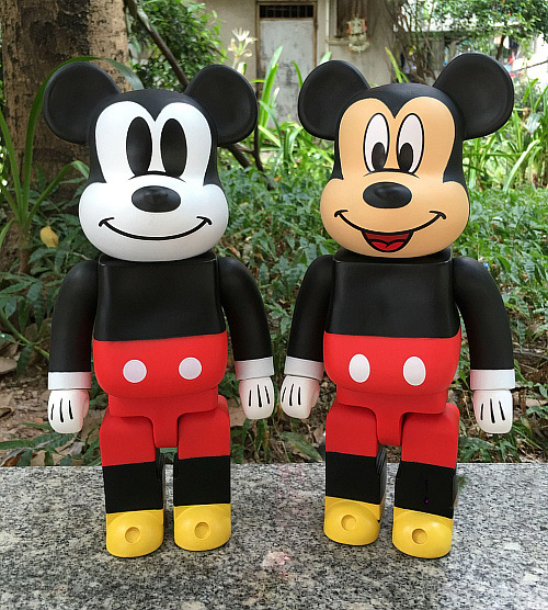 Mickey Mouse Bearbrick Action Figure 400% Be@rbrick Cos Mickey Mouse Doll PVC ACGN figure Toy Brinquedos Anime цена