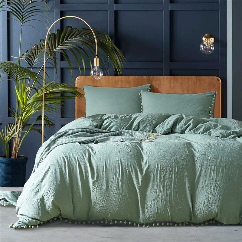 Green Bedding Set Comforter Bedding Set Duvet Cover Bed Sheet Pillow Quilt Cover Single/Double/Queen Size Quilted