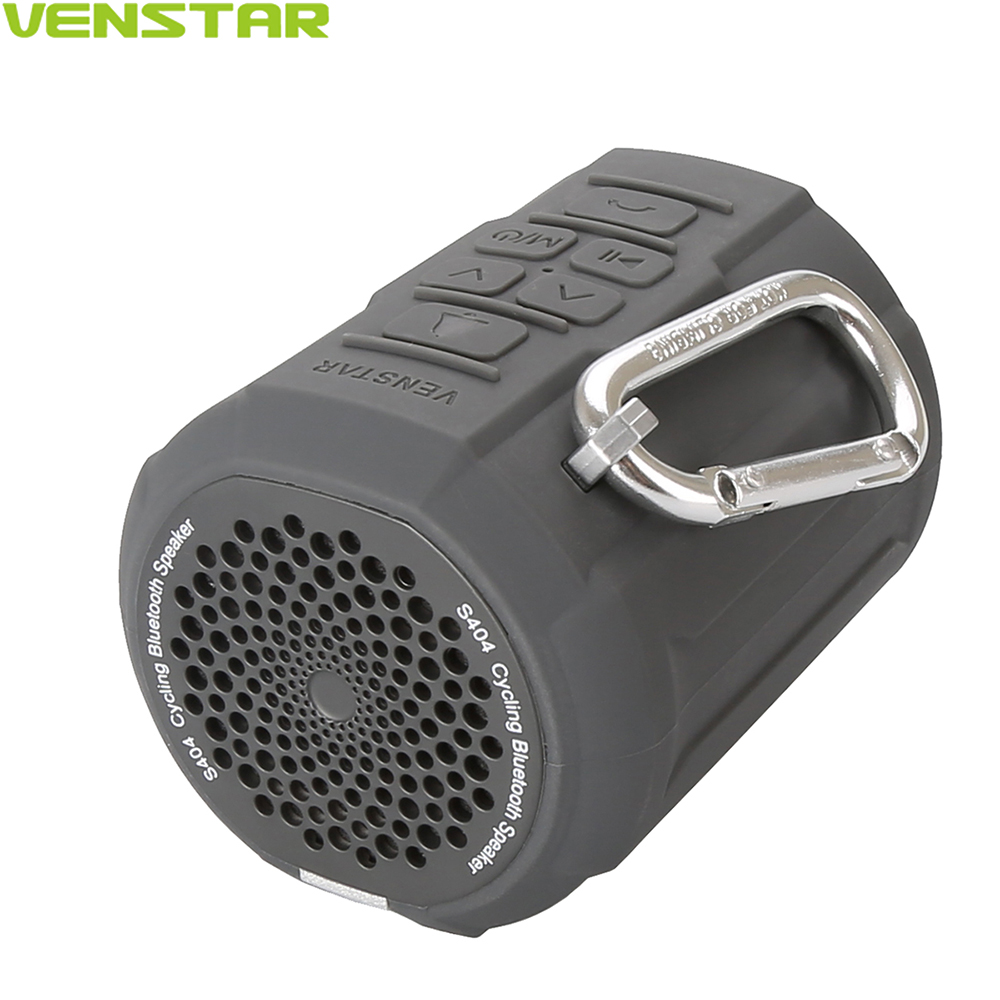VENSTAR S404 Cycling Sports Portable Bluetooth Speaker FM Radio Waterproof Mini Column with Bicycle Bell iFree Remote Bike Mount