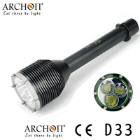 Archon D33 W39 Diving flashlight Waterproof 100 Meters underwater with 3pcs * XM L2 U2 LED 3000 lumens Dive Light dive light