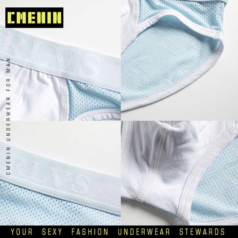 Мужские трусы брифы из бамбукового волокна, черные однотонные дышащие плавки в сетку из шелка, комфортное нижнее белье для мужчин, внутренняя одежда, новинка