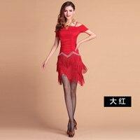 Professional Women Latin Dress Hot sale Tassels Rumba Jive Chacha Ballroom Latin Dance Dress Salsa Dress