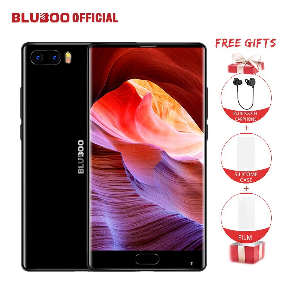 BLUBOO S1 4G мобильный телефон 5,5 ''Android 7,0 MTK6757 Восьмиядерный 4G B + 6 4G B смартфон Две задних камеры OTG сотовый телефон со сканером отпечатков пальцев