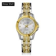 Reloj dama Profonde Shell Montre-Bracelet Femmes Exquis Or Quartz Top Marque De Luxe Diamant Casual Horloge