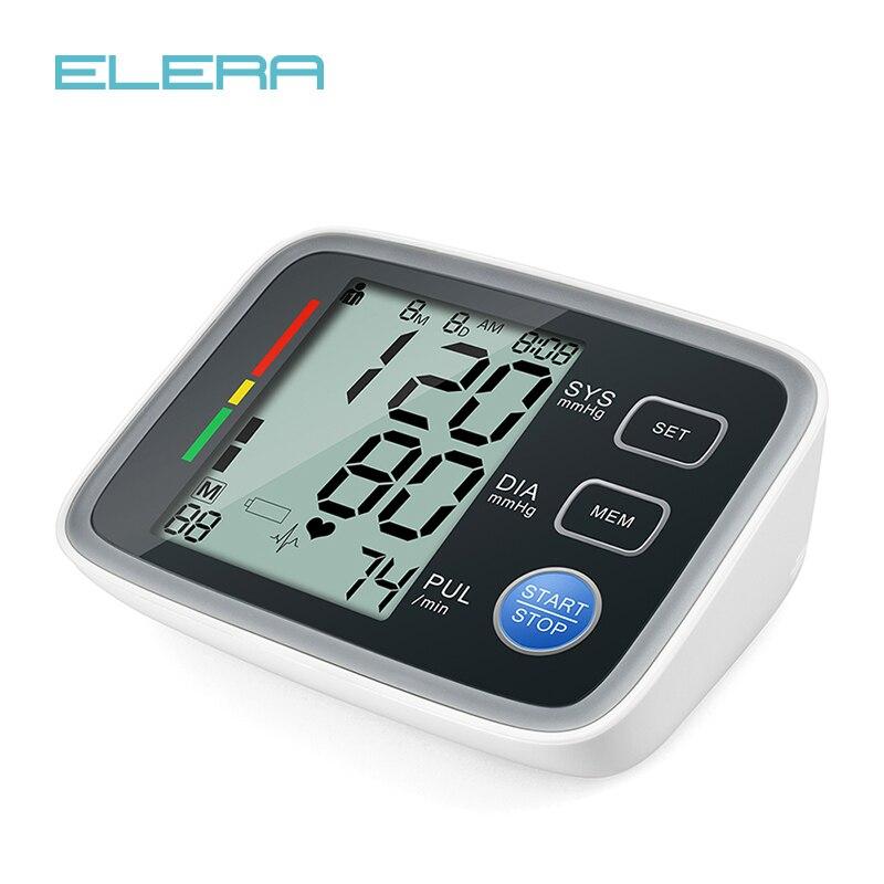 ELERA Digital Upper Arm Blood Pressure Monitor Portable LCD Display tonometer measuring bp Heart Beat Meter sphygmomanometer цена