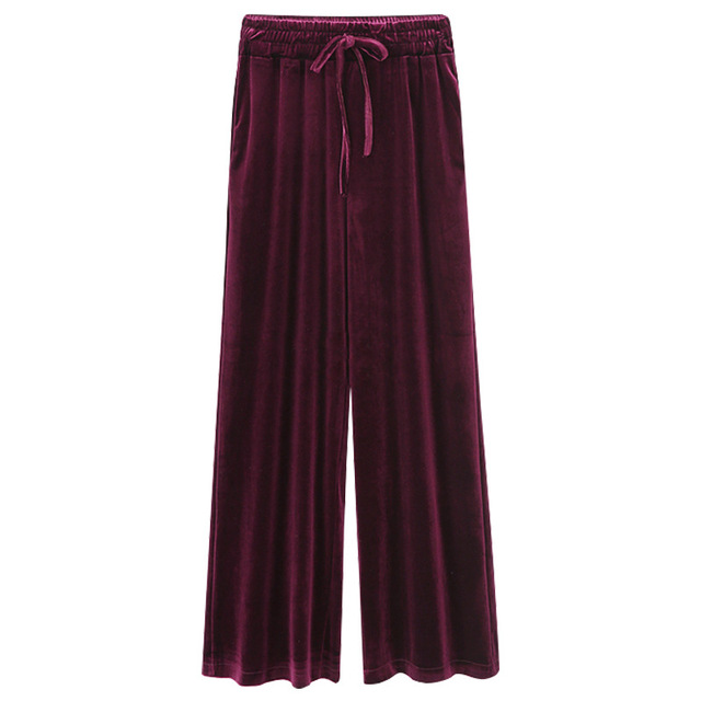 Primavera mujeres Pantalones anchos alta cintura suelta recta completa Pantalones  mujeres Pantalones casual gran tamaño 6xl 88c6e09f68f