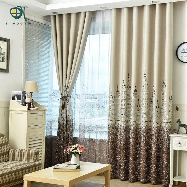 sinogem moderno castillo cortinas saln cortina ventana telas cortina decoracin nios dormitorio cortinas tulle - Cortinas Salon