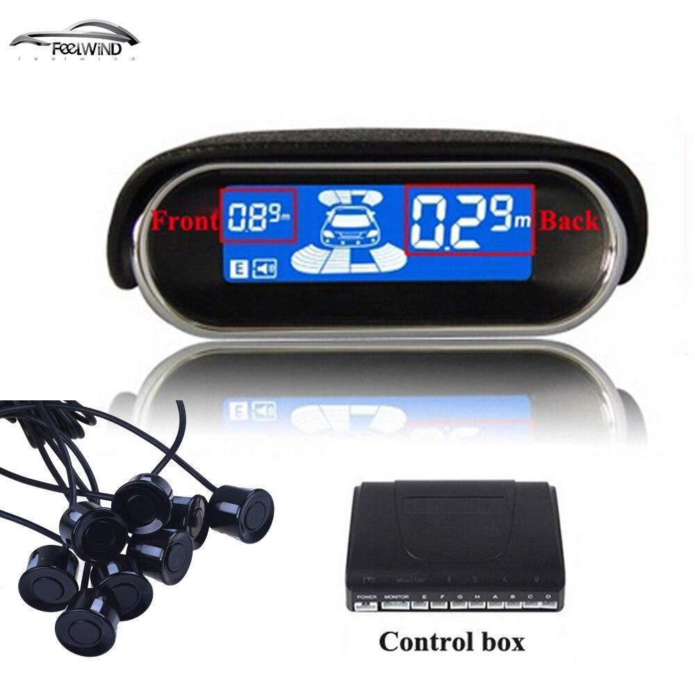 Sensori di Parcheggio auto 8 Intemperie Posteriore Vista Frontale Inverso Corredo di Sostegno Del Radar System LCD Display Monitor per skoda per BMW