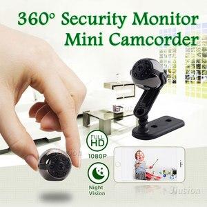 Камера няня Mini DV DVR 1080P Full HD SQ9 панорамная 360-градусная Спортивная Автомобильная камера с ночным видением, видео Диктофон, микро видеокамера
