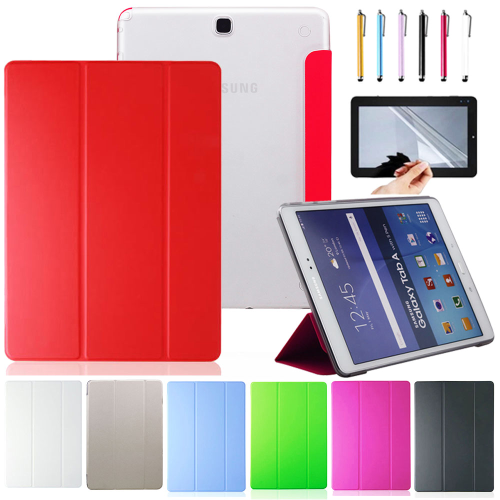 Ultra Thin Case Cover For Samsung Galaxy Tab A 9.7 T550 T555 Flip Stand Smart Tablet Case Cover Protective Shell Skin