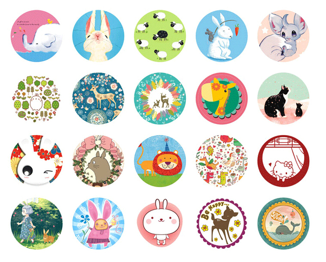 Molto Fashion Animal Styles 76pcs/Bag DIY Cute Kawaii Scrapbook Paper  EB24