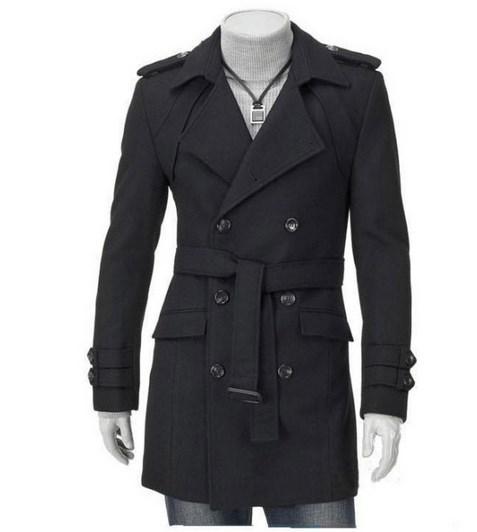 af0c7b6973ccf Mens Plus Size Slim Fit Trench Coat 4XL 5XL Black Grey Double Breasted Long  Trench Coat Men Autumn Winter Men s Coat Jacket
