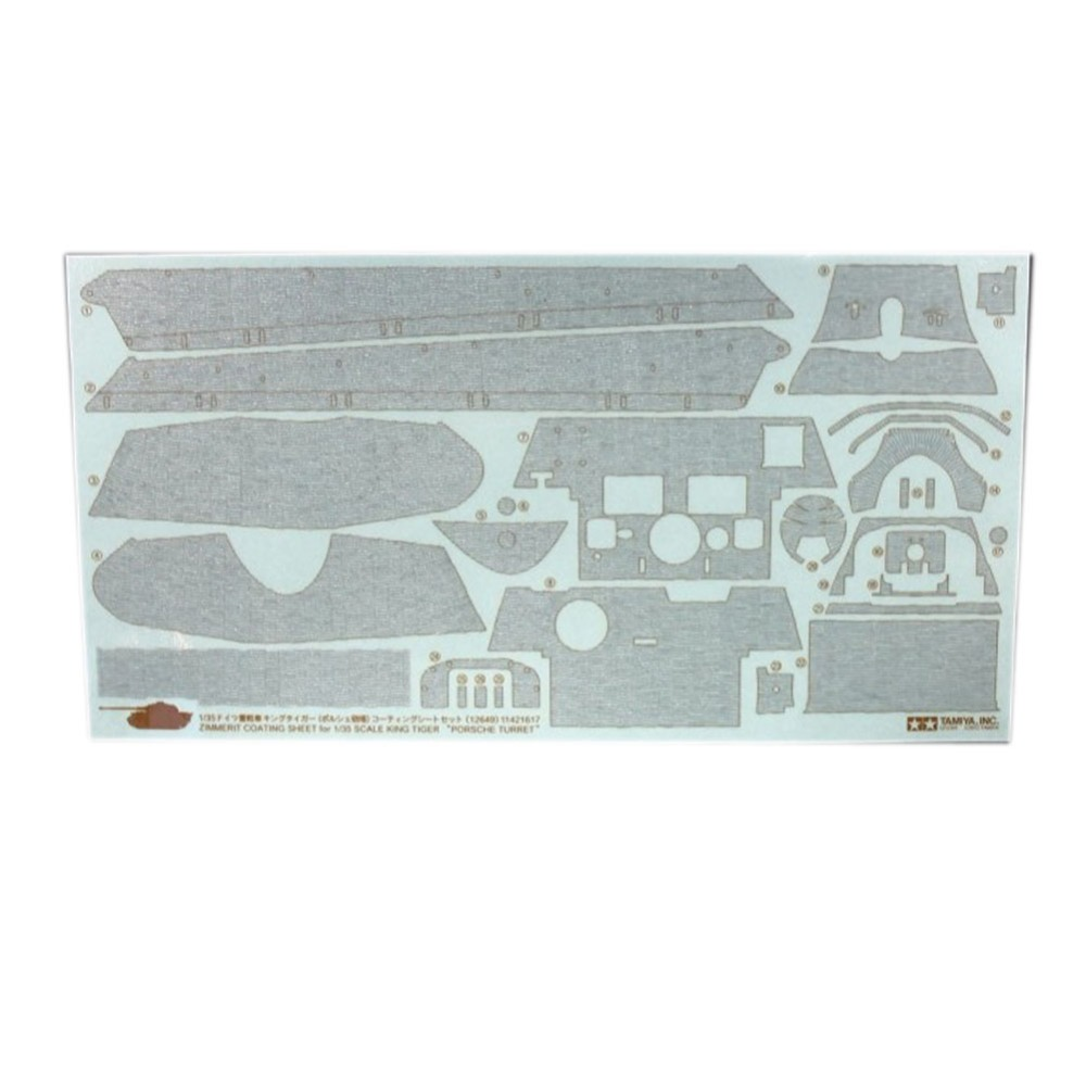 OHS Tamiya 12649 1/35 Detail-Up Parts Series Decal Zimmerit Coating Sheet For King Tiger Military AFV Decal oh