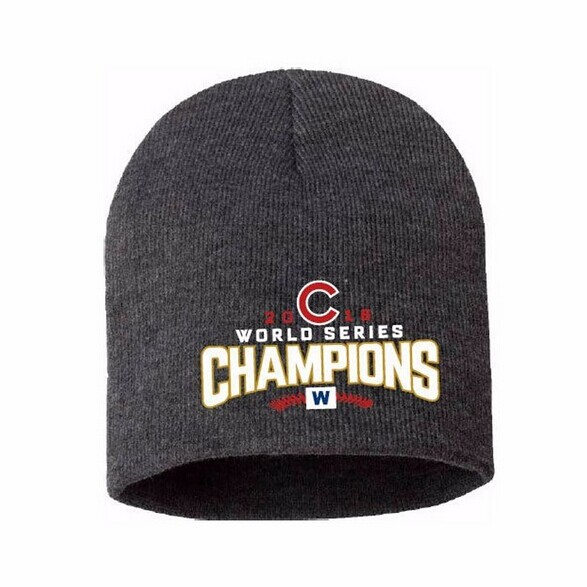 Chicago Cubs 2016 World Series Champions Knit Beanie Hat with Embroidered  Logo Unisex Cap Hot-in Skullies   Beanies from Apparel Accessories on ... 19263023a35