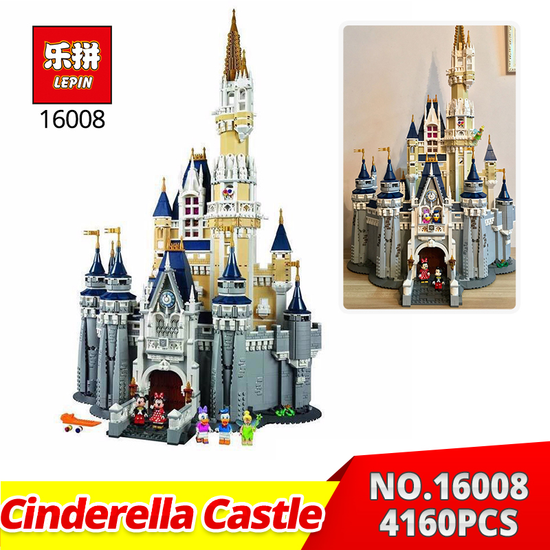 Lepin Building bricks 16008 4080Pcs Cinderella Princess Castle City Model Building Blocks kids Toys Gifts cpmpatiable with 71040 lepin 16008 4160pcs cinderella princess castle city model building block kid educational toys for gift compatible legoed 71040