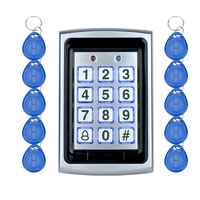 Metal RIFD out door keyboard access control Keypad rfid card reader for security system