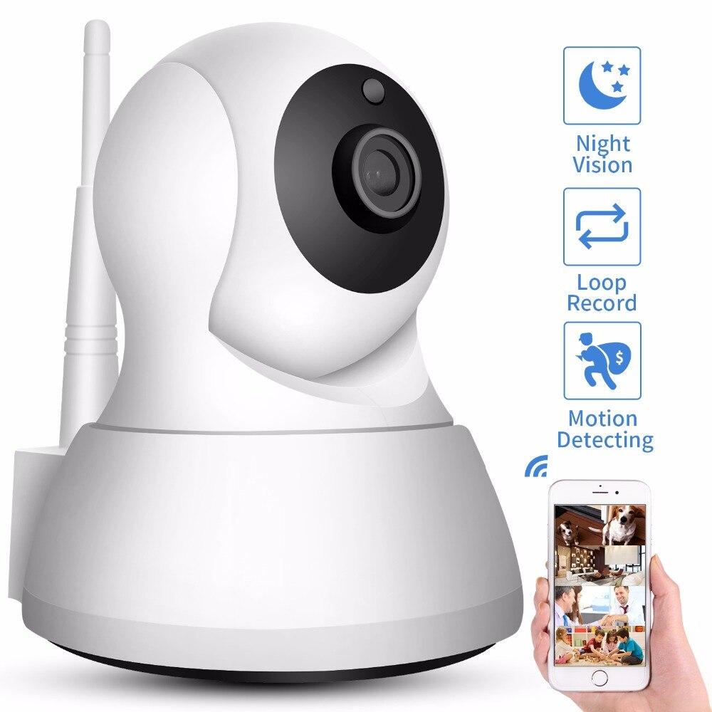 SDETER Home Security IP Camera Wi-Fi 1080 p 720 p Telecamera di Rete Wireless Telecamera A CIRCUITO CHIUSO di Sorveglianza P2P Del Bambino di Visione notturna monitor