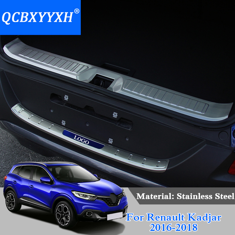 QCBXYYXH Trunk Rubber Rear Guard Bumper Protector Trim Cover Rear Bumper Protector Sill Car For Renault Kadjar 2016-2018 save $2 focal reducer speed booster mount adapter ring suit for nikon g to fujifilm fx x a2 x t1 x a1 x e2 x m1 x e1 x pro1