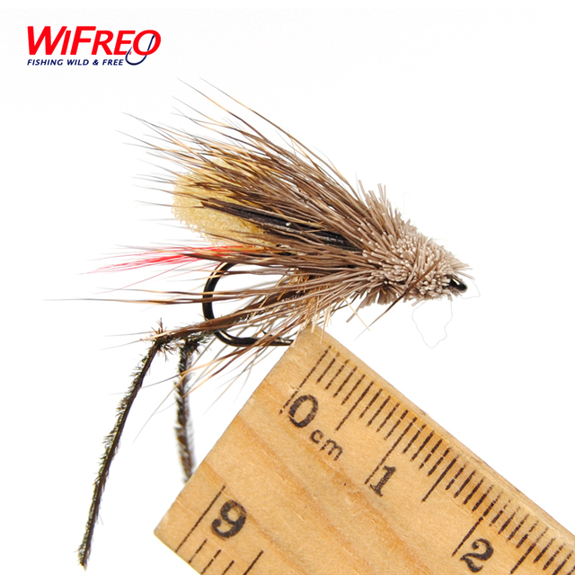 10PCS Fly Fishing Grass Hopper Flies Terrestrial Dry Fly Size #6 with Free Box Package