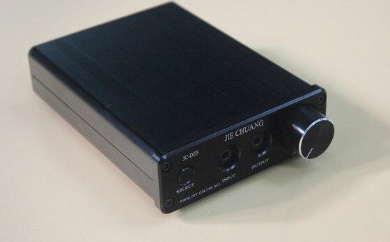 JC-DE5 Digital Decoder Amplifier TPA6120 Bluetooth amp PCM2704 decoder Fiber coaxial USB Bluetooth analog audio input k guss dac k2 usb dac bluetooth 4 0 audio decoder amplifier aio fiber coax usb analog audio input tpa6120 csr8635