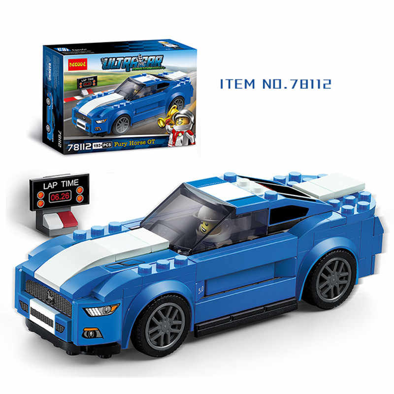 191pcs Super Racing Series Mustang GT Legoings Building Blocks Kit Toys Kids Birthday Christmas Gifts
