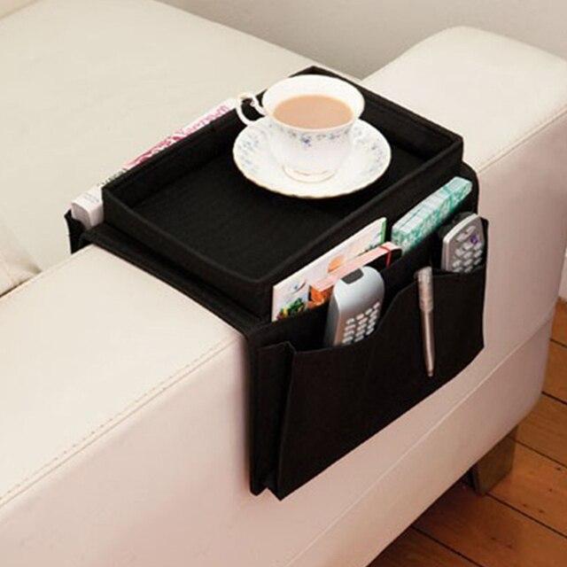 6 Pockets Sofa Handrail Couch Armrest Arm Rest Organizer Remote Control  Holder Bag On TV Sofa