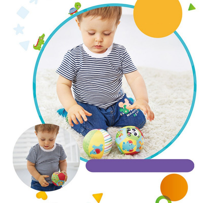 Baby Toys For Children Animal Ball Soft Plush Mobile Toys With Baby Rattle Infant Body Building Ball in Baby Rattles Mobiles from Toys Hobbies