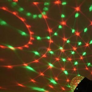 Image 3 - Lampe disco RGB boule magique LED, éclairage décoratif de scène, USB, Center de musique pour la maison, éclairage de scène, Stroboscopes et son fête