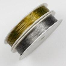 Стальной/Золотой трос, 1 рулон, 0,3 0,38 0,45 0,5 0,6 0,7 0,8 мм, проволока из нержавеющей стали, стальные проволочные шнуры, аксессуары для самостоятельн...