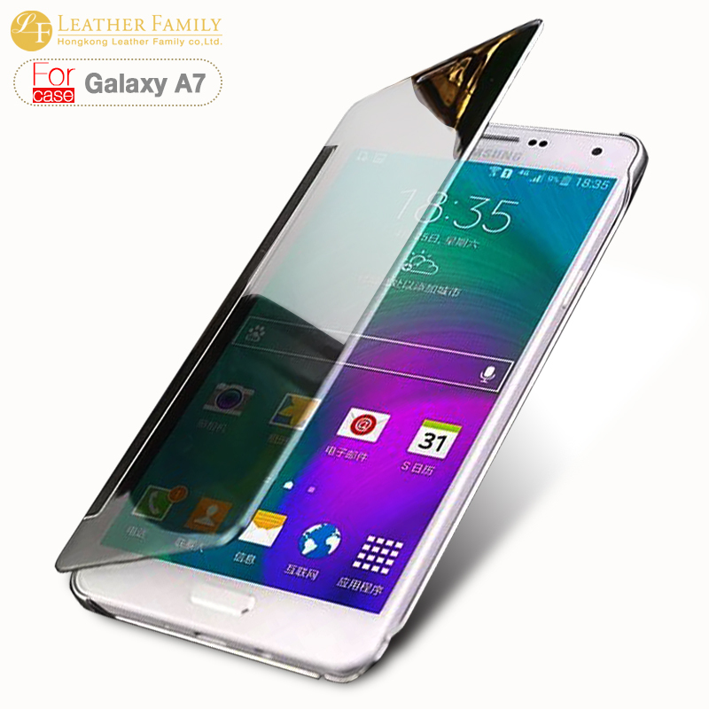 brand new 947c9 5ce5f For samsung galaxy a7 case,Original Translucent Plated mirror smart ...